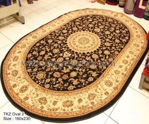 karpet klasik oval hitam-TKZ Oval 2