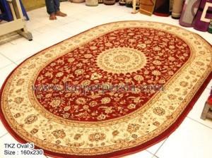 karpet klasik oval merah-TKZ Oval 3