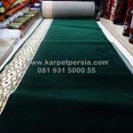 karpet masjid murah polos minimalis hijau surabaya