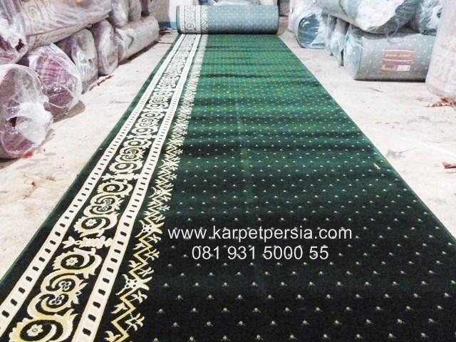 karpet sajadah masjid import hijau murah