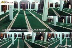 Karpet sajadah masjid baitul hidayah polres gunung kidul