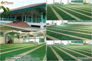 jual karpet sajadah minimalis - masjid alfatih chevron minas riau