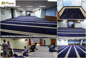 karpet sajadah minimalis biru - musholla renhan jakarta