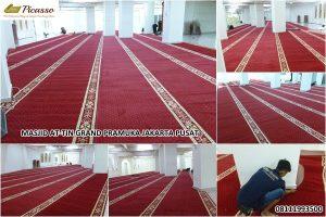 karpet sajadah minimalis murah - masjid at-tin grand pramuka jakarta