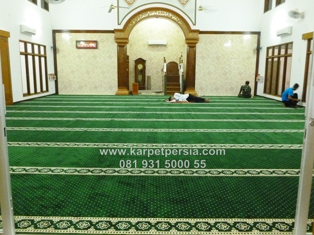 jual online karpet sajadah masjid minimalis hijau bintik jakarta