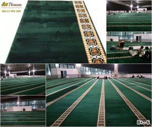 Karpet masjid, karpet masjid murah, karpet sajadah roll, karpet masjid minimalis hijau