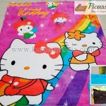 Karpet Motif Kartun Hello Kitty 2