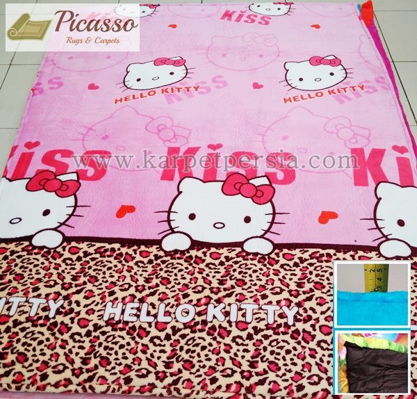 Karpet Motif Kartun Hello Kitty