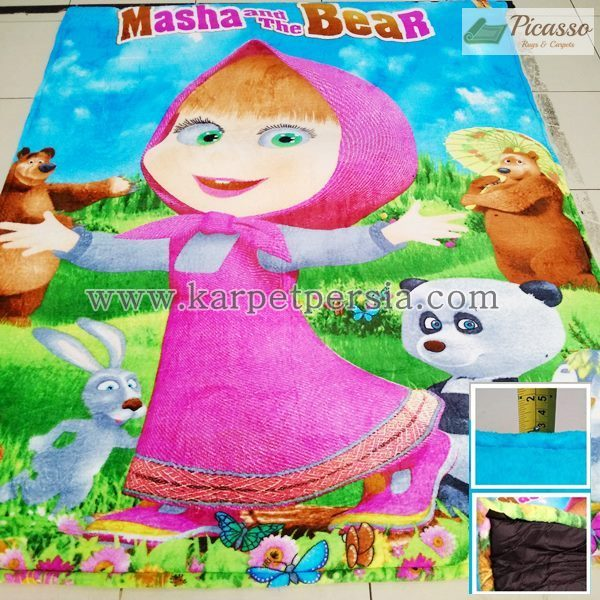 Karpet Motif Kartun Masha and The Bear