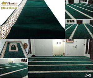 Karpet Masjid murah, Karpet sajadah online, karpet sajadah minimalis hijau, picasso carpet, karpet persia