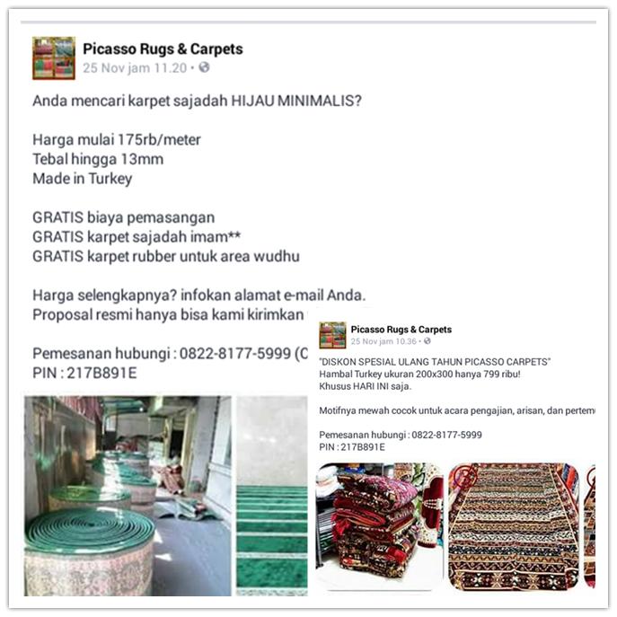 Berbelanja Online Di Picasso Rugs and Carpets, Banyak Untungnya!