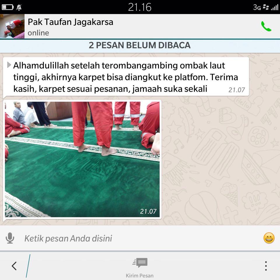 karpet masjid musholla kapal