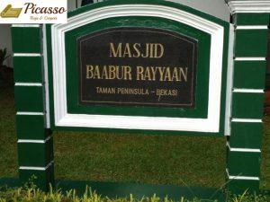 Masjid Baabur Rayyaan, Taman Peninsula – Bekasi