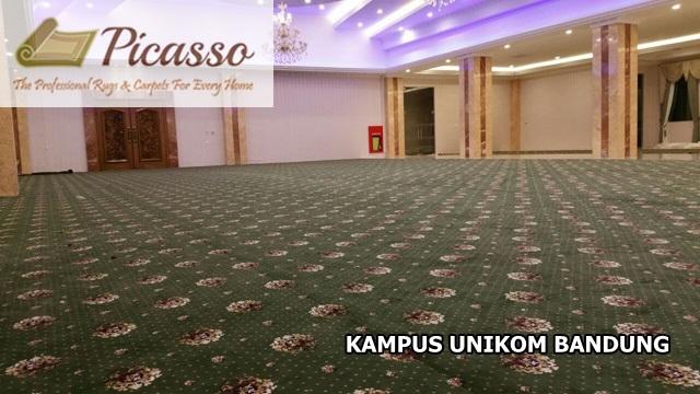 Pemasangan Karpet Picasso Rugs and Carpets di Auditorium Kampus UNIKOM Bandung