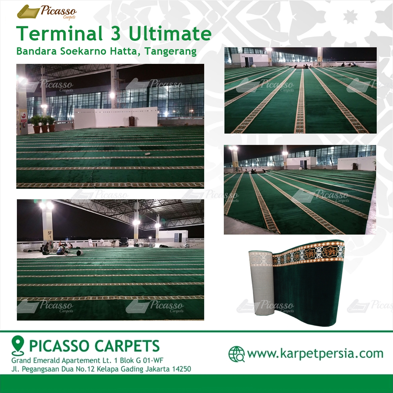 Karpet Sajadah Minimalis Terminal 3 Ultimate Bandara Soekarno Hatta