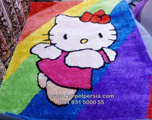 Karpet shaggy hello kitty, karpet shaggy, karpet bulu