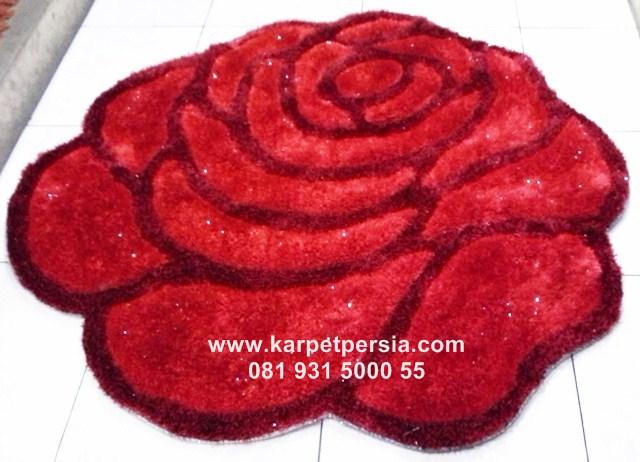 karpet shaggy rose, karpet shaggy love, shaggy murah, karpet bulu bentuk rose dan love