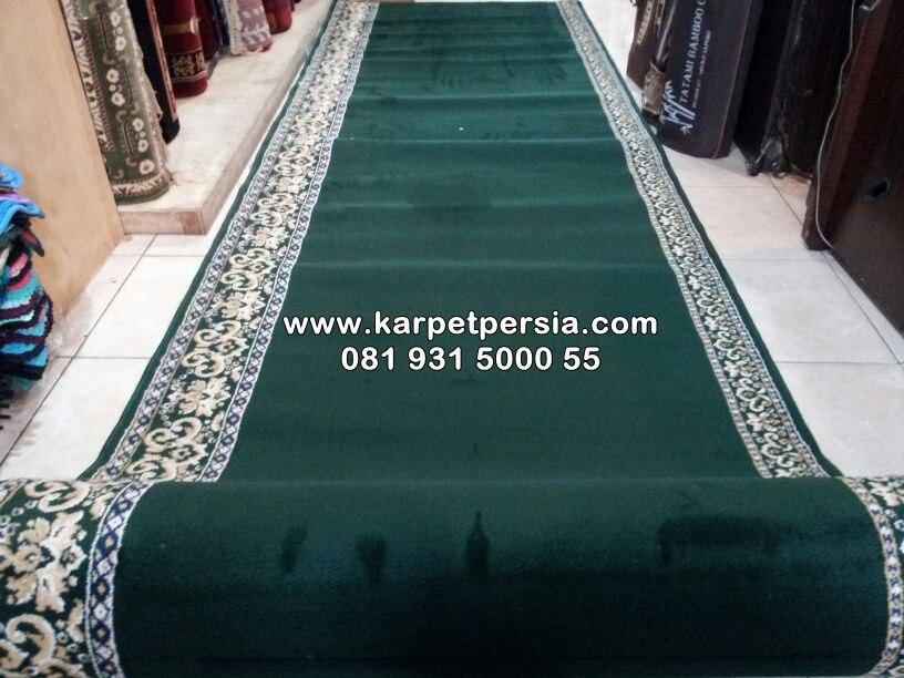 Karpet masjid iran classic polos hijau jakarta