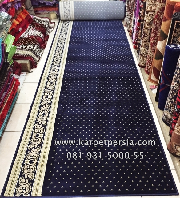 karpet sajadah masjid tebal warna biru