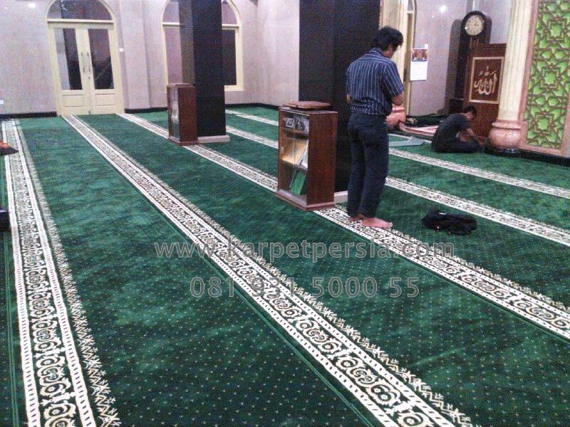 Karpet Masjid Minimalis Hijau Spesial ramadhan