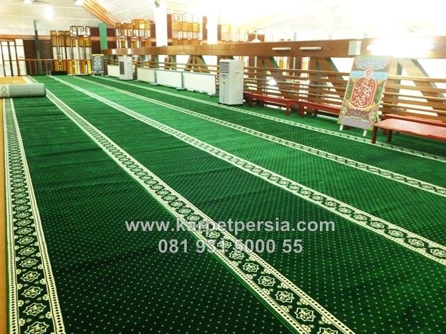toko online karpet sajadah masjid hijau kelapa gading