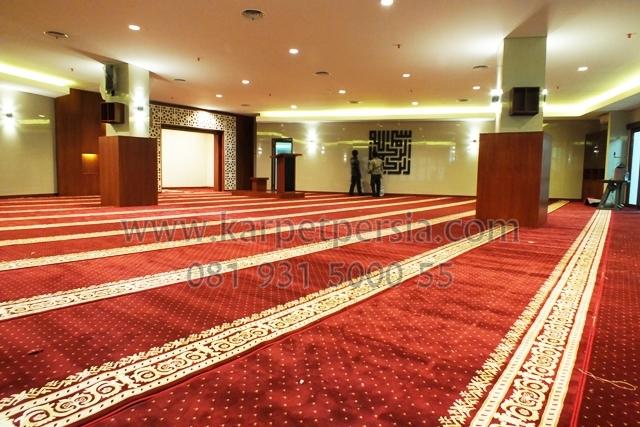 agen penjualan karpet sajadah masjid merah maroon kelapa gading