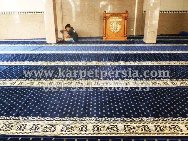 karpet sajadah minimalis Turki warna biru