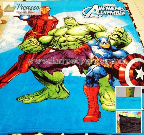 Karpet Motif Kartun Avengers