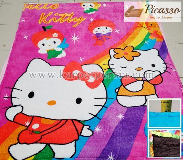 Karpet Motif Kartun Hello Kitty 2