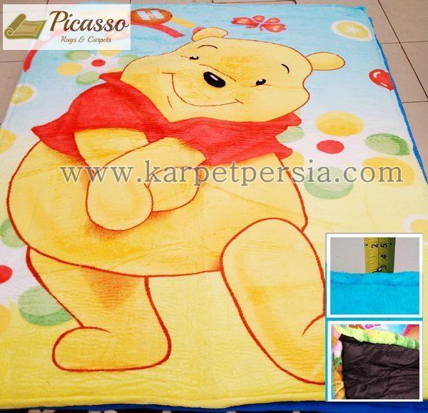 Karpet Motif Kartun Winni The Pooh