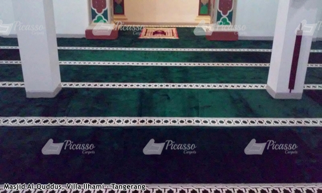 Karpet Masjid Al-Quddus Villa Ilhami Tangerang