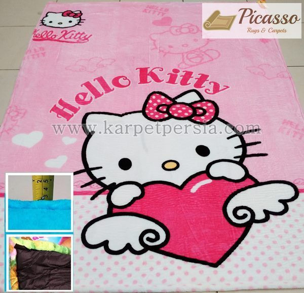 Dukung Si Kecil Lebih Berani dan Mandiri di Kamarnya Sendiri dengan Karpet Motif Hello Kitty