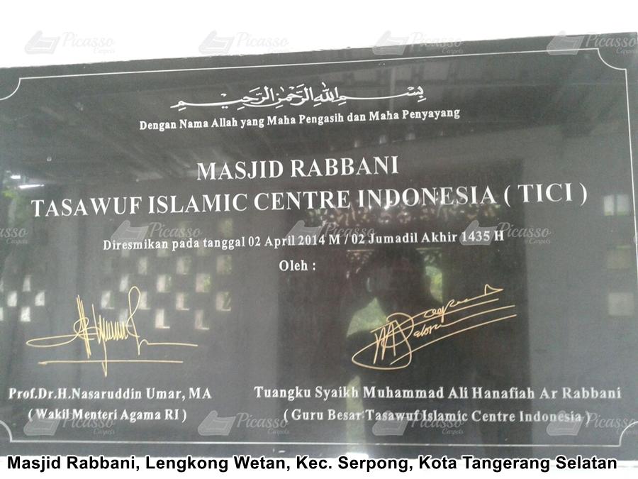 Karpet Masjid Rabbani, Tangerang