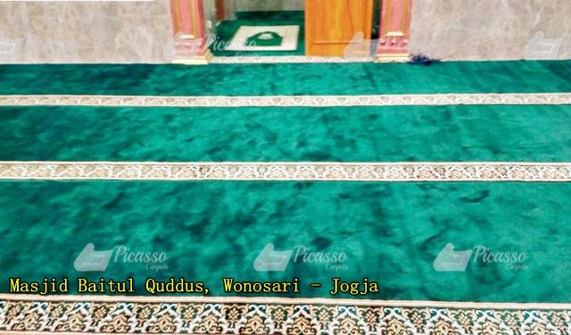 karpet masjid hijau baitul quddus wonosari jogja (1)
