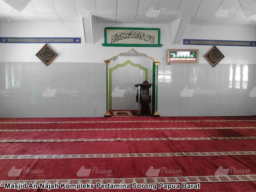 karpet masjid sorong papua