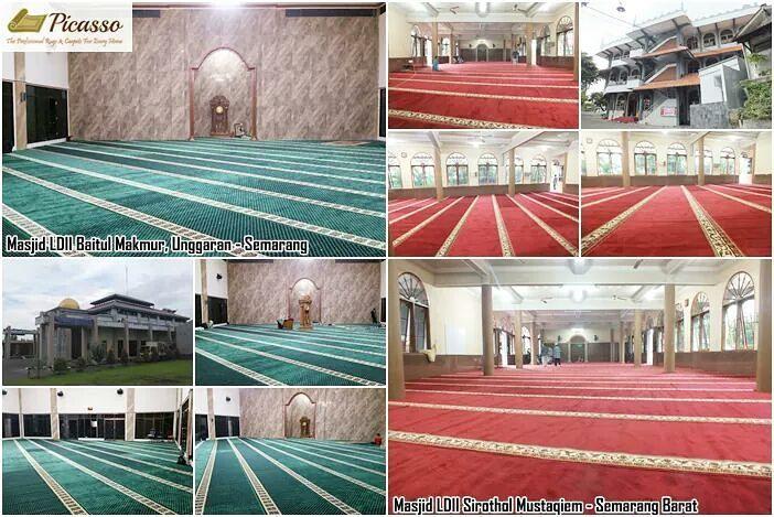 Anda Warga Semarang? Yuk, Intip Karpet SajadahTerpasang Kami di Dua Masjid Ini!
