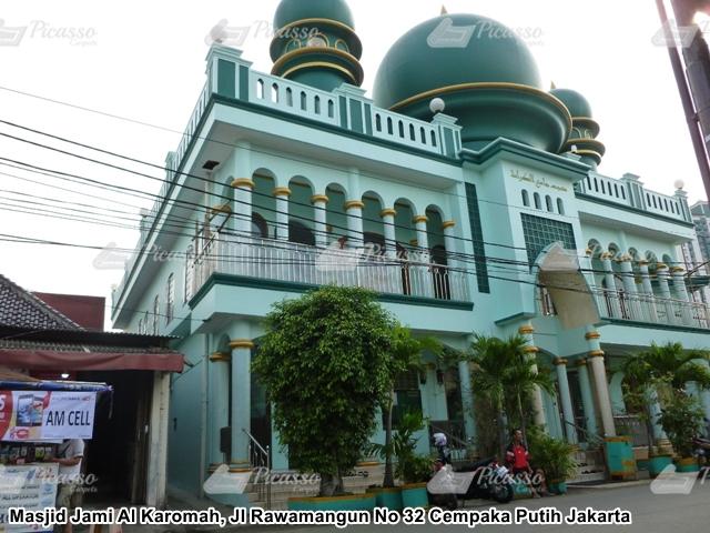 Karpet Masjid Jami Al Karomah, Cempaka Putih Jakarta
