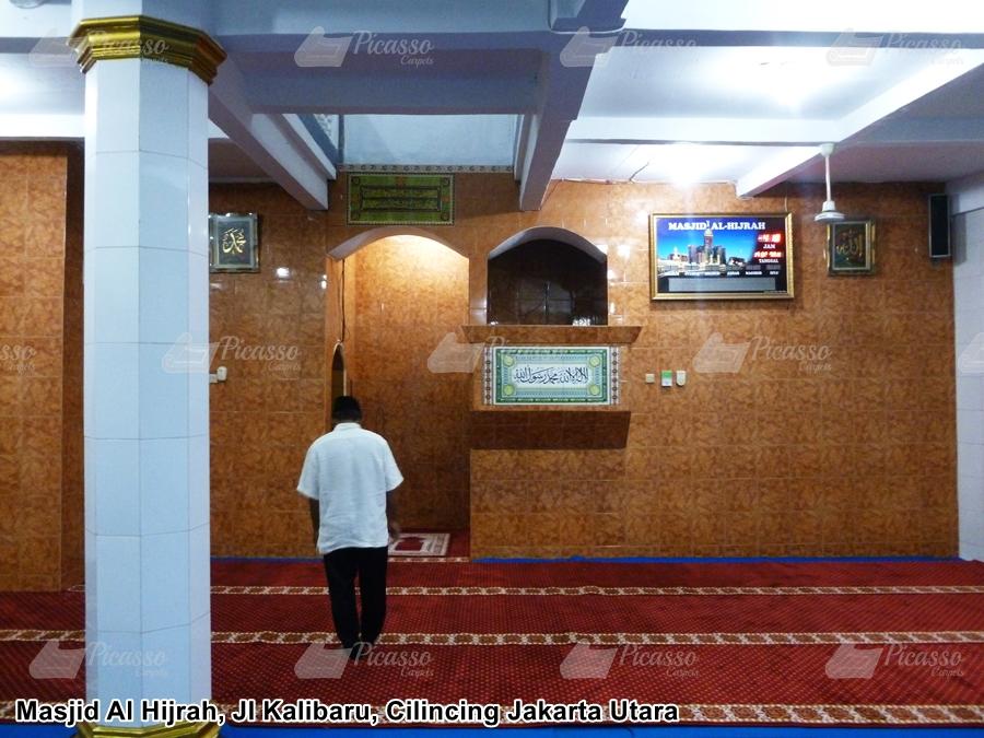Karpet Masjid Al Hijrah, Kalibaru, Cilincing Jakarta Utara