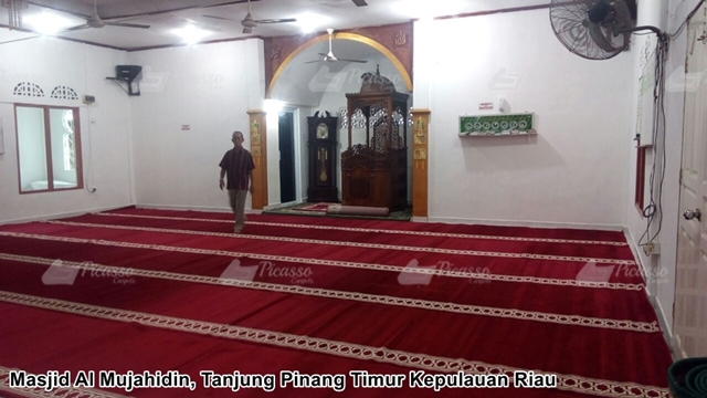 Karpet Masjid Al Mujahidin, Tanjung Pinang Timur-Riau