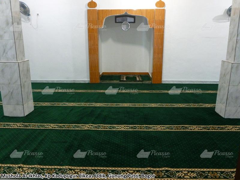 Karpet Masjid Al Ikhlas, KP Kadupugur Cikeas Udik, Gunung Putri – Bogor