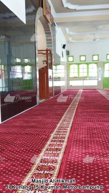 Karpet Masjid Al-Hikmah, Jl Kunang 15 Kauman Metro Lampung