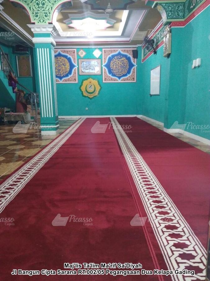 Karpet Masjid Maj'lis Ta'lim Ma'rif Sa'Diyah Kelapa Gading