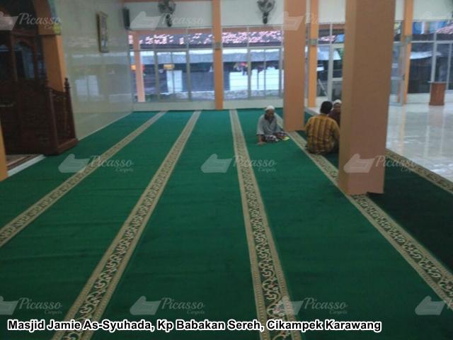 Karpet Masjid Jamie As-Syuhada Cikampek Karawang