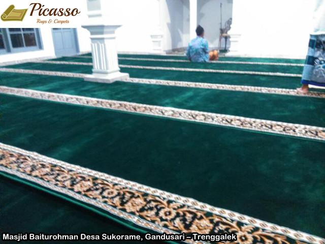 Karpet Masjid Baiturohman Desa Sukorame, Gandusari – Trenggalek