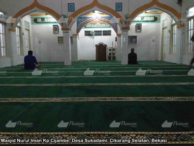 Karpet Masjid Nurul Iman Kp Cijambe, Desa Sukadami, Cikarang Selatan, Bekasi