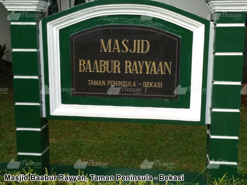 Karpet Masjid Baabur Rayyaan, Taman Peninsula – Bekasi