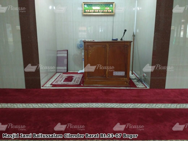 Karpet Masjid Jami Baitussalam Cilender Barat Bogor