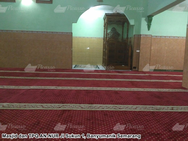 Karpet Masjid dan TPQ AN-NUR Banyumanik Semarang