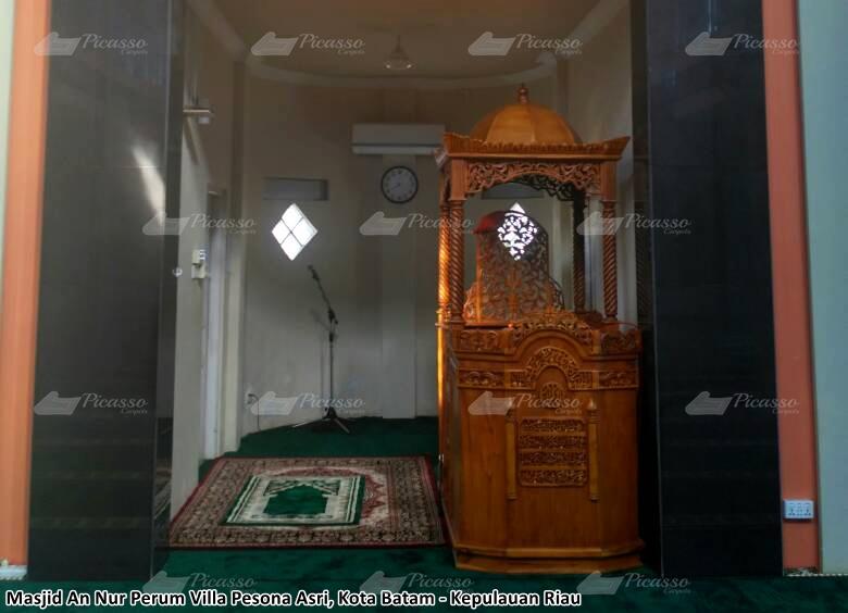 karpet masjid hijau minimalis batam