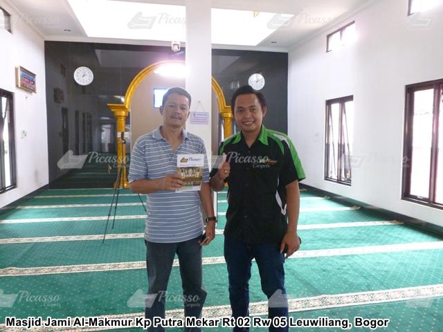 Karpet Masjid Jami Al-Makmur  Leuwiliang Bogor